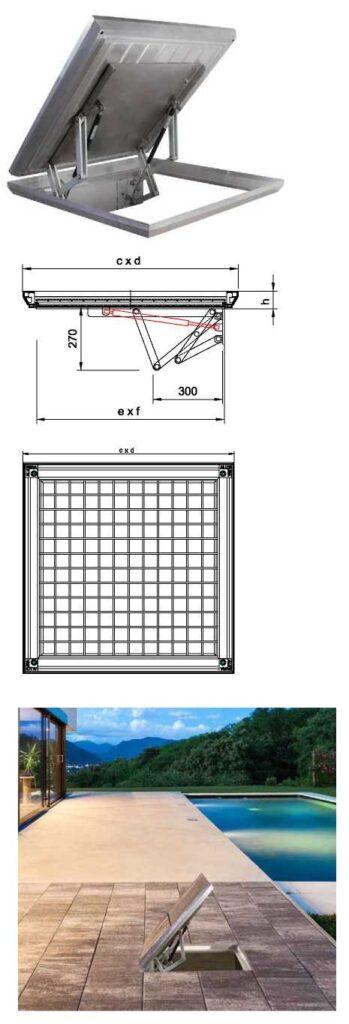 caracteristici capace aluminiu alupura cu sistem de inchidere cu telescop
