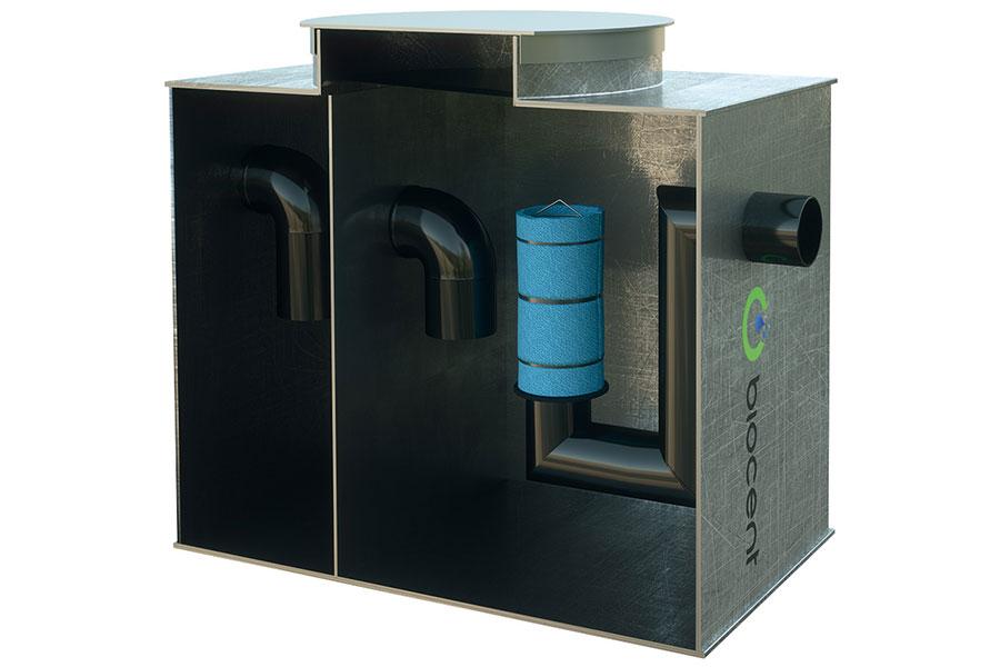 separator hidrocarburi din PEHD cu bazin de sedimentare